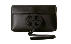 Tory Burch NEW Miller Black Leather Phone Belt Bag Crossbody Clutch $228 XS Belt