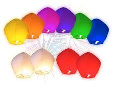 Lot de 10 Lanternes volantes multicolores + 1 MARQUEUR  pour écrire vos voeux