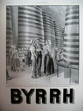 PUBLICITE DE PRESSE BYRRH APERITIF CUVES A VIN DESSIN LEONNEC  FRENCH AD 1937