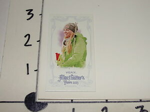 Lindsey Vonn 2013 ALLEN & GINTER No# mini red Dual Bat SP/25 - US Olympic Skiing