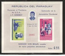 PARAGUAY #841a Imperforate MNH PRESIDENT J. F. KENNEDY MEMORIAL ASTRONAUTS