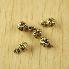 20pcs dark gold-tone flower-ball charms findings h1982
