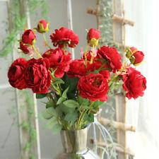 Artificial Fake Western Rose Flower Peony Bridal Bouquet Wedding Home Decor AU