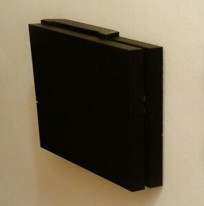 Wall mount brackets for PS4 CONSOLE (original) with mounting screws (Black)