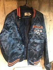 RARE VINTAGE CHALK LINE CHICAGO BEARS SATIN JACKET 80'S 90'S NFL SIZE- XL