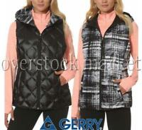 WOMENS GERRY REVERSIBLE HOODED DOWN VEST! PACKABLE! VARIETY