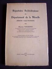 Répertoire archéologique du département de la Moselle - période Gallo-Romaine