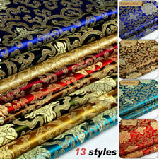 Chinese Floral Satin Faux Silk Fabric Retro Brocade Tang Suits Upholstery Sew