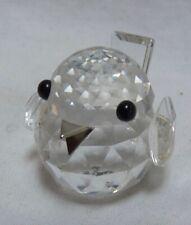"Swarovski Austria Silver Crystal Figurine: Sparrow Silver Beak #9650 1"" Long"