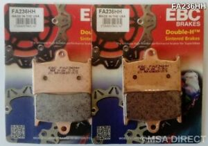 2004 - 2009 TRIUMPH ROCKET III - FRONT EBC HH RATED SINTERED BRAKE PADS - 2 PAIR