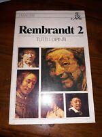 Rembrandt 2 tutti i dipinti Bur arte 1980 prima edizione