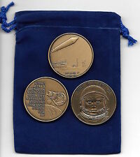 NASA AMERICAN MILESTONES: EXPLORER1 & PROJECT MERCURY MR/III & MA/VI BRONZE SET