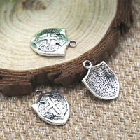 6 Tarot Carte Charms ton argent métal 18 mm