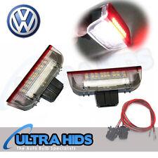 UNDER DOOR RED WHITE PUDDLE LIGHTS VW GOLF MK5 MK6 JETTA PASSAT CC TOURAN SKODA