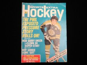 March 1972 Sports Extra Hockey Magazine - Phil Esposito Bruins Cover