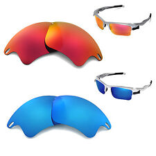 New Walleva Polarized Fire Red + Ice Blue Lenses For Oakley Fast Jacket XL
