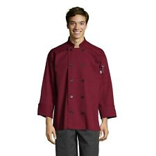 Moroccan Chef Jacket, long sleeve, Burgundy, Xs to 3Xl, 0405 Free Shipping