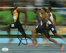 Usain Bolt Autograph Signed 8x10 Photo Jamaica Olympics RIO Gold JSA Cert #11
