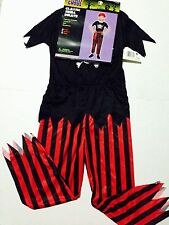 toycastle TOTALLY GHOUL CLASSIC SKULL PIRATE HALLOWEEN COSTUME 4-6 YRS OLD
