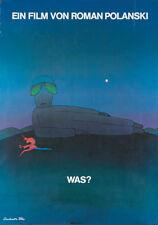 Original Vintage Poster Folon Film Roman Palnski What? 1972 Germany