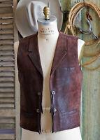 Handmade All Leather Supple Lamb Skin JOHN WAYNE VEST IN ROUGH RIDER SM MED LG