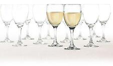 Set of 12 White Red Wine Glasses 10 oz Stem New Drinking Dinner Wedding Party