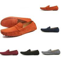 Mens Flat Slip On Driving Pumps Gommino Suede Loafers Outdoor Moccasins Shoes