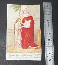 CHROMO 1890-1910 IMAGE PIEUSE CATHOLICISME HOLY CARD ST ANNE MERE VIERGE MARIE