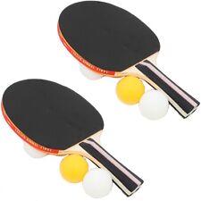 Tischtennis Set 2 Tischtennis-Schläger mit stabilem Holzgriff inklusive 6 Bällen