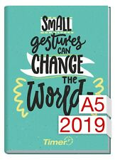 "Chäff-Timer Classic 2019 12 MONATE A5 ""Change the World"""