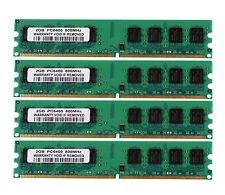 NEW 8GB 4X 2GB DDR2-800MHz PC2-6400U 240PIN DIMM Intel RAM Desktop Memory 6400