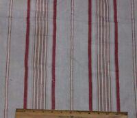 Antique French Farmhouse Linen Ticking Stripe Fabric c1870-1880
