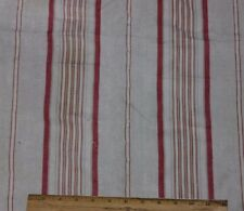 Antique French Farmhouse Linen Ticking Stripe Fabric c1870-1880