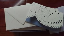 Vera Wang Blue White Wedding 10 Cards Invitation Thank you Eyelet Spiral