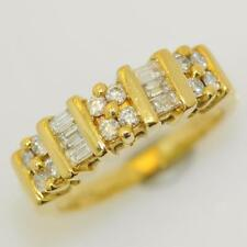 Wedding Excellent Cut Yellow Gold SI1 Fine Diamond Rings
