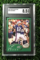 2002 Topps Collection Foil #248 Tom Brady SGC 8.5 (=PSA), Rare First Topps Card