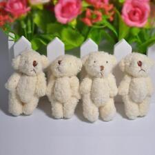 Small Teddy Bears Plush Pearl Velvet Dolls Gifts Wedding Toy 4pcs/lot SS US