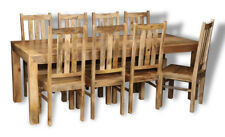 DAKOTA LIGHT MANGO 220CM DINING TABLE AND 8 DAKOTA CHAIRS (16L&821L)