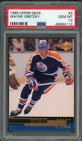 Wayne Gretzky Edmonton Oilers 1999 Upper Deck Hockey Card #3 Graded PSA 10