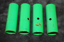 Set of 4 BMX Bicycle Axle Pegs - Green Metal