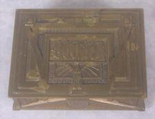 Antique Erhard & Sohne Art Deco Nouveau German Engraved Brass Box Jugendstil