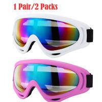 2x Winter Snow Sport Goggles Kids Ski Snowboard Snowmobile Sun Glasses Eyewear