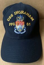 USS INGRAHAM FFG-61 FRIGATE BASEBALL CAP HAT, NAVY BLUE, THE CORPS, NEW NWOT