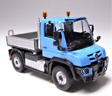 H0 BUSCH Universalmotorgerät Unimog U 430 Pritsche Gelblicht blau silbergraumet.