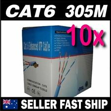 10 x CAT 6 305M UTP 1000 feet Ethernet LAN Network Cable Roll Box 10/100/1000MB