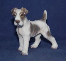 Dahl Jensen Wired Haired Fox Terrier Dog Figurine #1118 Royal Copenhagen Denmark