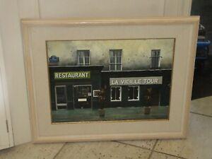 "Thomas Pradzynski Original Oil Painting Paris Doorway LA VIEILLE TOUR 18""x24"""