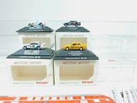 AV154-0,5# 4x Herpa H0 Motorsport-PKW BMW: 3526+3527+3528+3530, NEUW+OVP