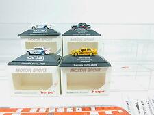 AV154-0,5# 4x Herpa H0 Voitures de sport automobile BMW: 3526+3527+3528+3530, W+