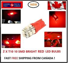 2X T10 LED RED Xenon 10 SMD/5050/194Bulbs Light 168 W5W license Plate Wedge